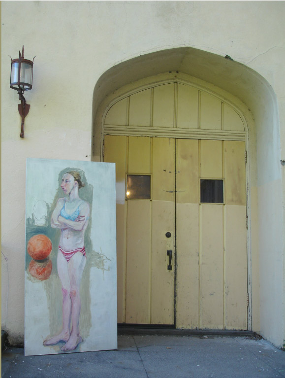 entrance and painting
